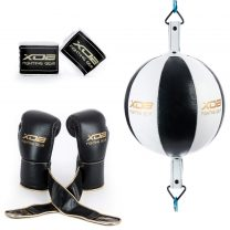 1 Double End Bag + Original Hook and Loop Boxing Gloves + Mexican Style Hand Wraps